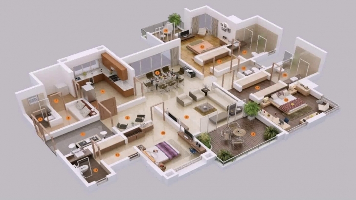 Gorgeous 5 Bedroom House Plans 3D - Youtube Five Bedroom House Designs Picture