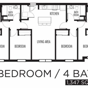 4 Bedroom Flat Floor Plan Design