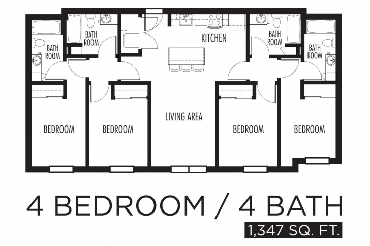 Gorgeous Apartment: 4 Bedroom Apartment Floor Plans 4 Bedroom Flat Floor Plan Design Image