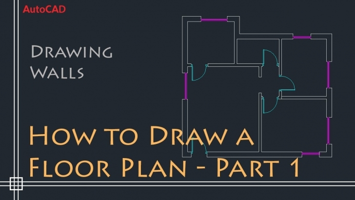 Gorgeous Autocad 2D Basics - Tutorial To Draw A Simple Floor Plan (Fast And Autocad 2D Drawing House Plan Image