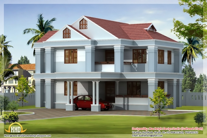 Gorgeous Awesome Indian Home Elevations Kerala Design Floor Plans - House Beautiful Indian House Pic Image