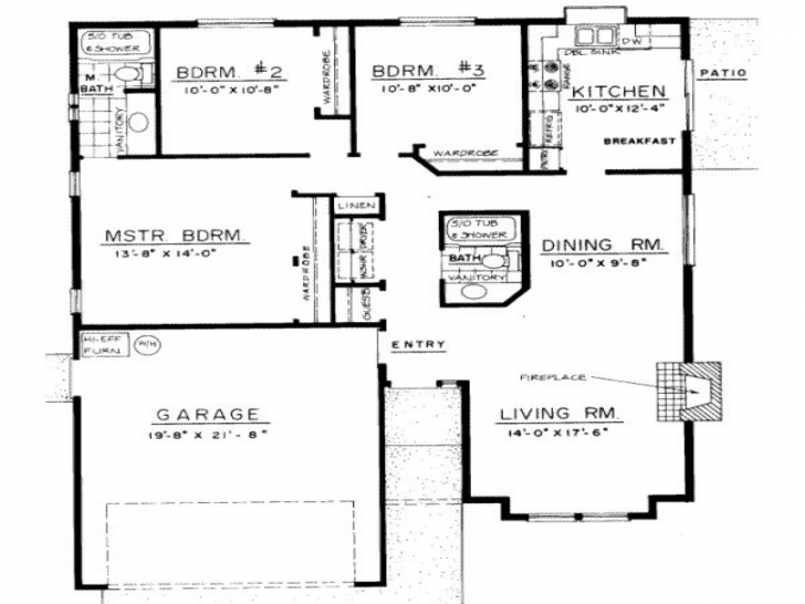 Gorgeous Bedroom: 3 Bedroom Bungalow Floor Plans 3 Bedroom Bungalow Floor Plan With Dimensions Image