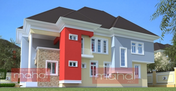 Gorgeous Contemporary Nigerian Residential Architecture: 4 Bedroom Duplex Modern Nigerian 4Bedroom Duplex Pics Picture