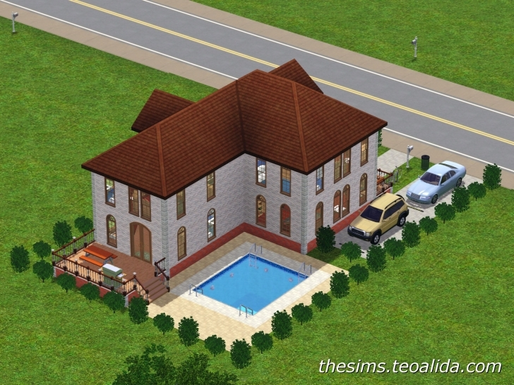Gorgeous L-Shaped House | The Sims Fan Page L Shaped House Image
