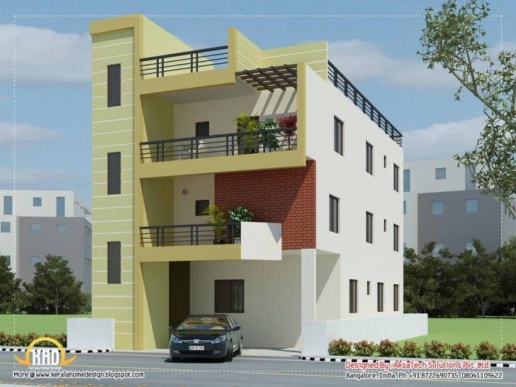 Gorgeous Modern Contemporary Home Elevations Aksatech Solutions Bangalore 2Nd Floor House Front Design Picture