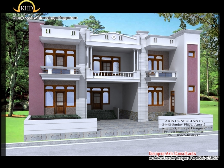 Gorgeous Twostory Kerala Home Design - Home Design Interior Decoration Home Front Slab Design Image