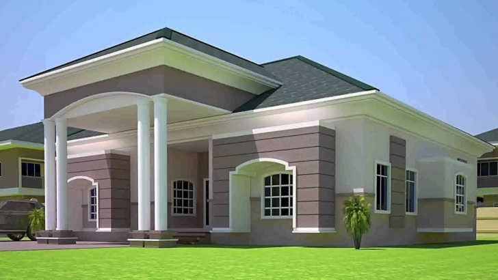 Great 3 Bedroom House Design In Ghana - Youtube 3 Bedroom House Designs Pictures Image