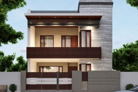 3D Front Elevation Of House In Punjab