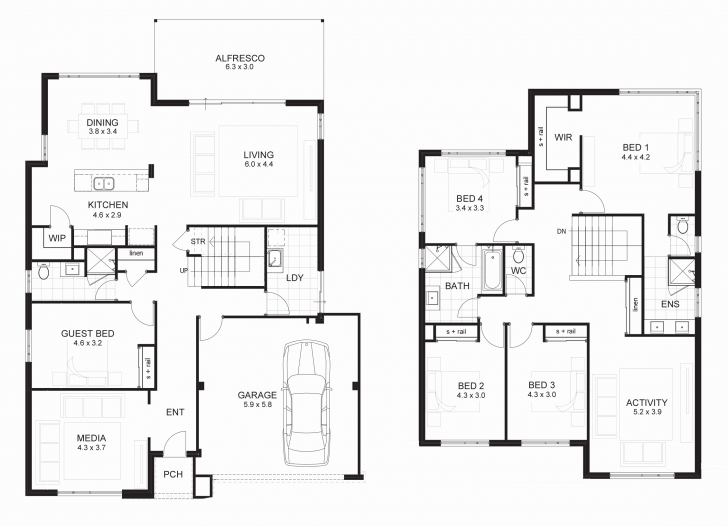 Great 4 Bedroom Floor Plans 2 Story Best Of Modern 2 Storey House Plans 4 Bedroom 2 Storey Modern House Plans Picture