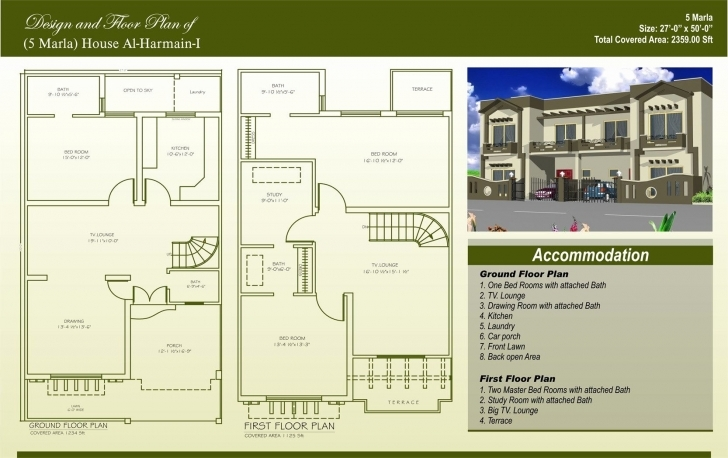 Great 50 Beautiful Image 3 Marla Two Story House Plan - Home Inspiration 15 Marla House Plan Photo