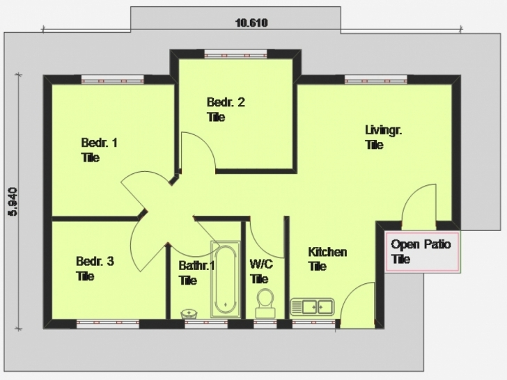 Great Affordable 3 Bedroom House Plans — Modern House Plan : Modern House Plan Low Cost Three Bedroom House Plans Image