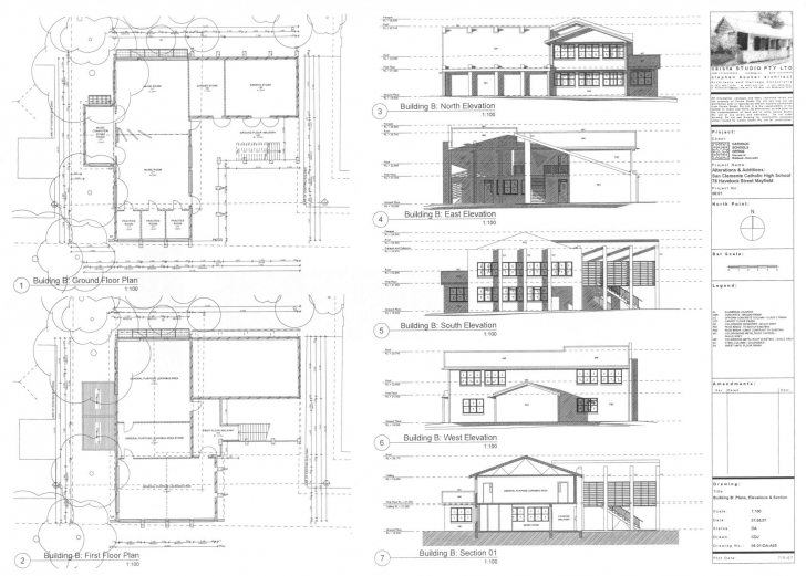Great Building Plan And Elevation - Homes Floor Plans Plan Elevation Section Of Residential Building Photo