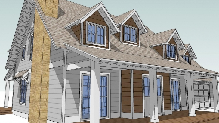 Great Design An Attic Roof Home With Dormers Using Sketchup. Part 1 Roof Dormer Designs Pic