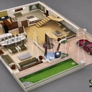 Small House Plans Indian Style 3D