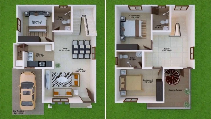 Great House Design 20 X 30 - Youtube 20*30 Duplex House Plans 3D Picture