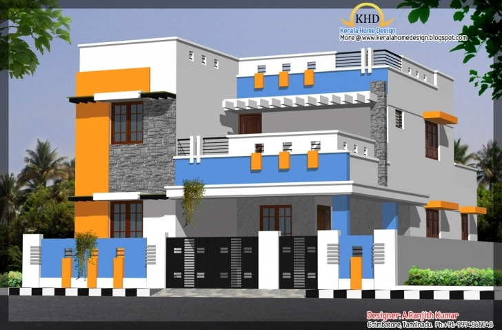 Great House Elevations Over Kerala Home Design Floor - Architecture Plans Simple Building Plan With Front Elevation Image