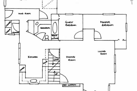 Autocad 2D Residential Building Plan