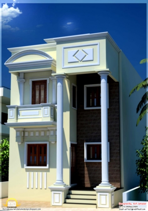 Great Indian Home Design Elevation - Mellydia - Mellydia House Elevation Of 15×50 Photo