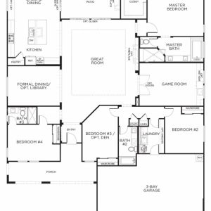 Single Story House Floor Plan