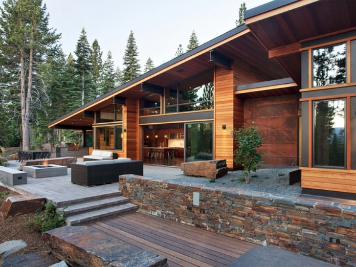 Great Lovely Modern Mountain Home Designs House Pictures Homes For Contemporary Rustic Mountain Home Plans Pic