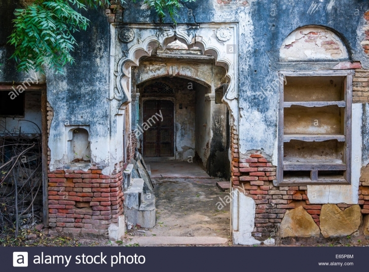 Great Old Indian Rural House Doorway Stock Photos & Old Indian Rural House Old Indian House Pic Pic