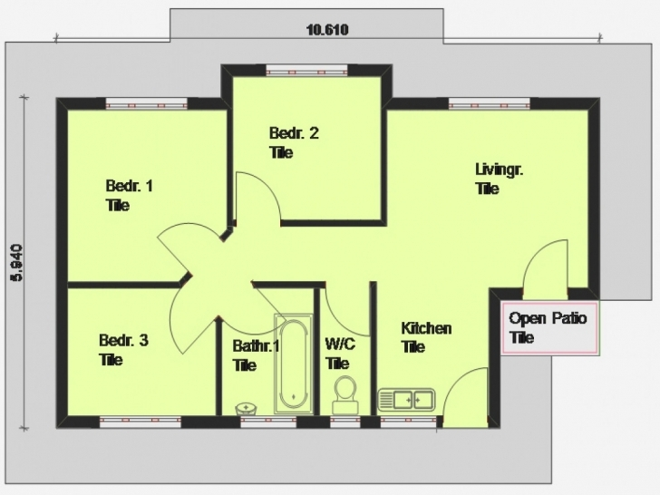 Great Simple 3 Bedroom House Plans | Home Plan References Simple 3 Bedroom House Plans With Garage Pic