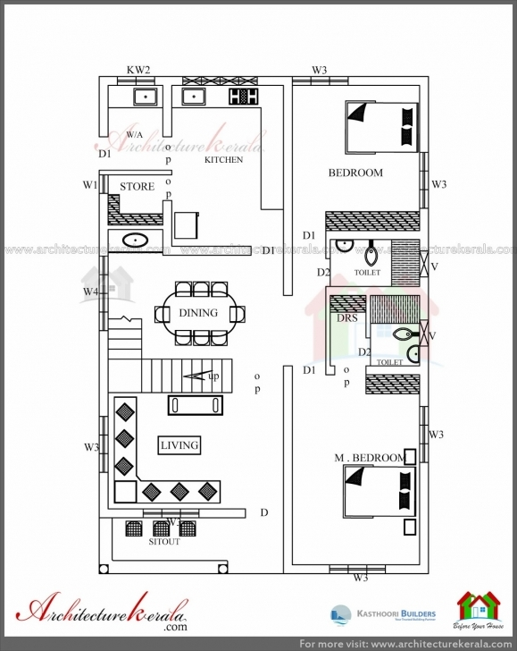 Great Simple Elevation House Plan In Below 2500 Sq Ft - Architecture Kerala Kerala Simple Home Plans 3 Bedrooms Picture