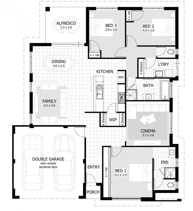 Great Simple Three Bedroom House Plan Bat Boy Plans Floor For 2018 With Three Bedroom House Bat Boy Photo