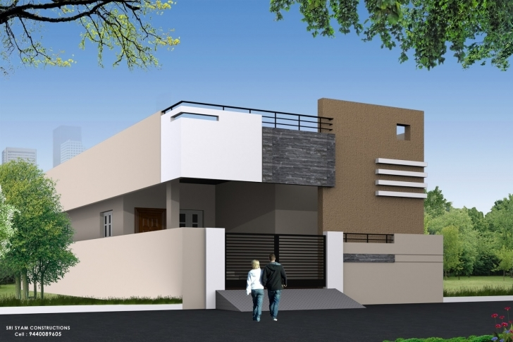 Great Single Floor House Elevation Designing Photos | Home Designs Single Floor Elevation Work Pic