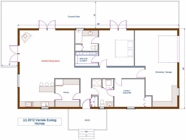Great Small Log House Floor Plans | Floor Plan 30'x60' Single Level Log 30*30 House Design Single Picture