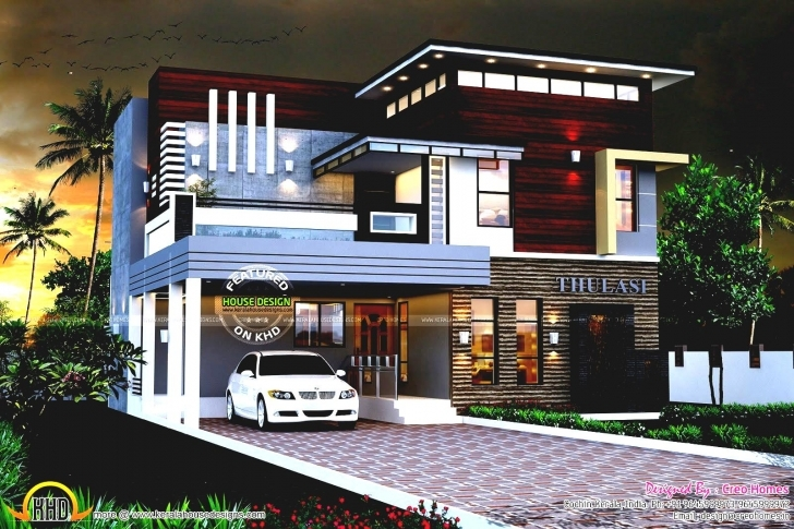 Great Sq Ft Modern House Kerala Home Design And Floor Plans All About Kerala Home Design Images Picture