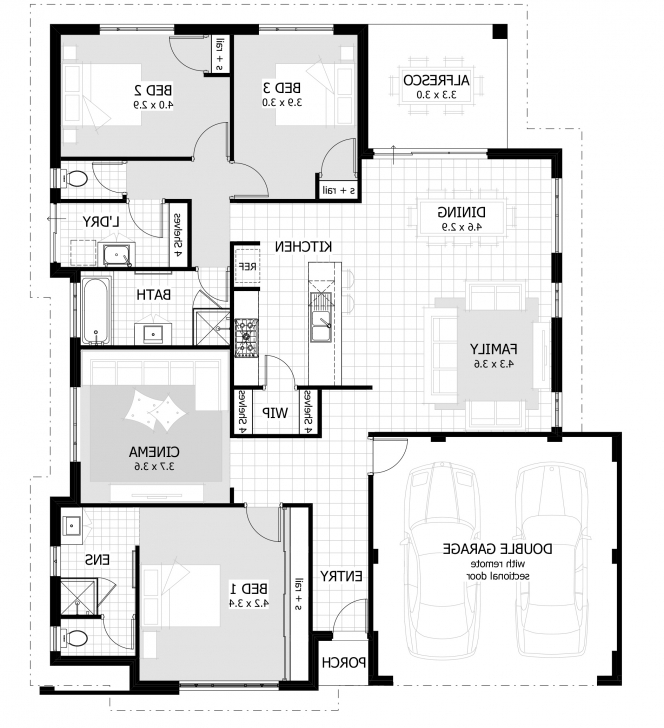 Great Three Bedroom Bungalow Design - Homes Floor Plans Three Bedroom Bungalow Plan Image