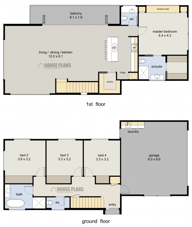 Great Wanaka 4 Bedroom, 2 Storey - House Plans New Zealand Ltd Double Storey House Plans Nz Image