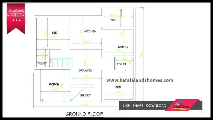 Image of 1300 Sq Ft Kerala House Plans Free For Low Budget Home Makersreal Kerala House Plans Free Download Picture