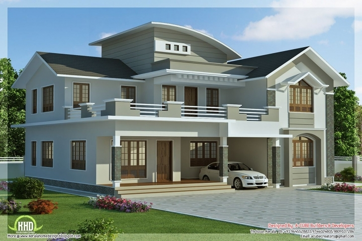 Image of 2960 Sq.feet 4 Bedroom Villa Design | Villa Design, Kerala And Villas New House Images Kerala Image