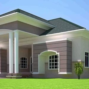 3 Bedrooms House Plan In Ghana