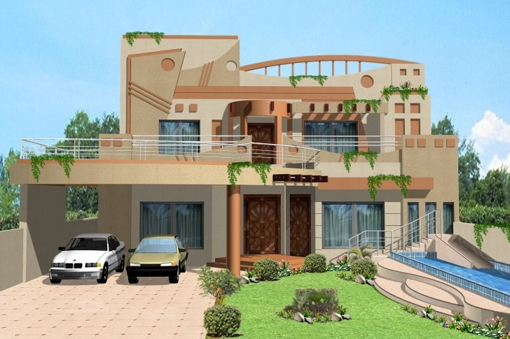 Image of 3D Front Elevation Of House - Good Decorating Ideas 3D Front Elevation Of House Picture