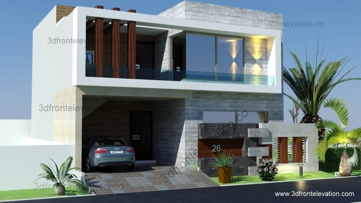 Image of 3D Front Elevation: Pakistan Front Elevation Of Houses In Pakistan Picture