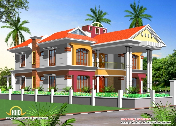 Image of Double Story House Elevation Kerala Home Design Floor Plans - Home Kerala Elevation Residential House Plans Image
