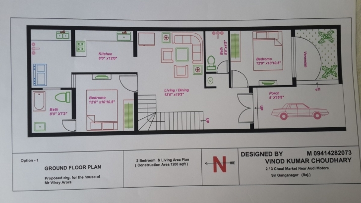 Image of Home Plan 25 X 45 Beautiful Impressive Design 20 X 40 House Plans 15 X 50 House Map In India Pic