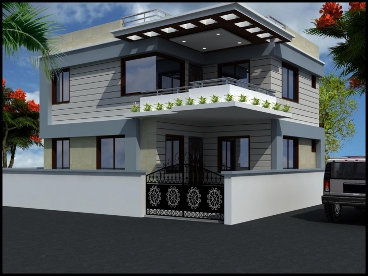 Image of House Front Balcony Design | Izfurniture Front Balcony Wall Design Photo