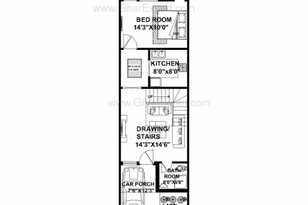 House Plan For 16 Feet By 45 Feet Plot