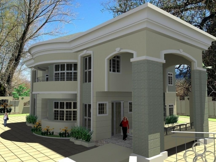 Image of House Plan In Nigeria Awesome Great Bedroom Duplex House Plans In 3D Duplex Plans In Nigeria Photo