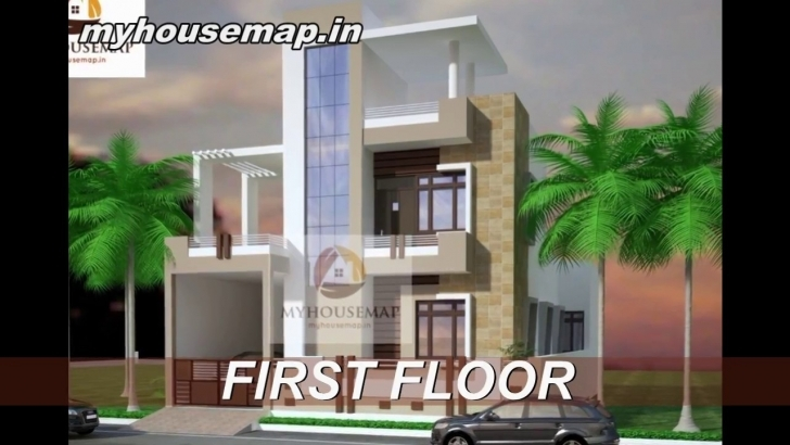 Image of Indian House Design Front Elevation 25.60 Latest 2017 - Youtube 20*60 House Front Elevation Picture