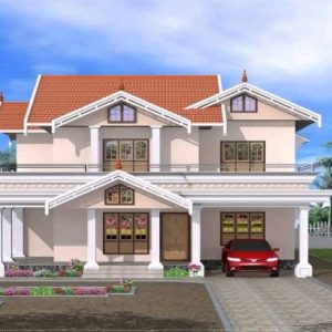Kerala House Front Elevation Designs