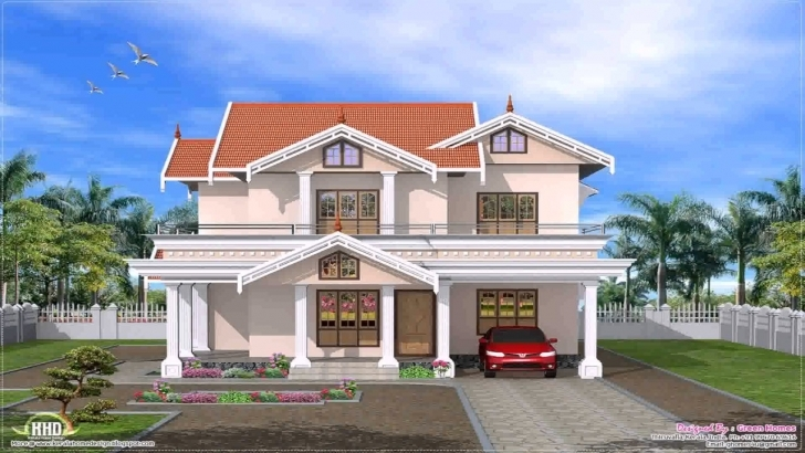 Image of Kerala Style House Front Elevation - Youtube Kerala House Front Elevation Designs Photo