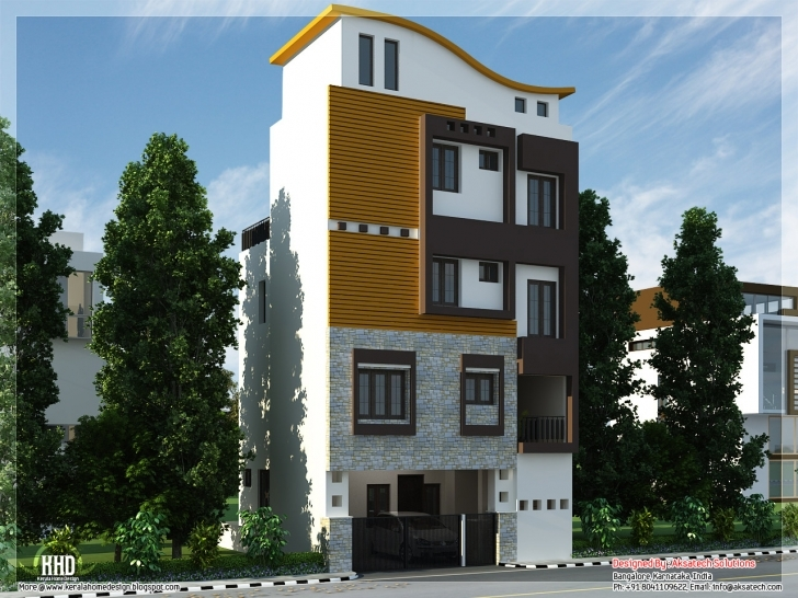 Image of Mix Collection Home Elevations Interiors Kerala - Building Plans House Front Designs 15 Photo