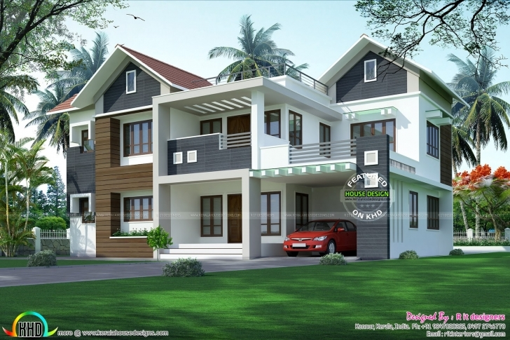 Image of Modern Mixed Roof Home 2984 Sq-Ft - Kerala Home Design And Floor Plans Kerala House Design Photo Gallery 2017 Picture