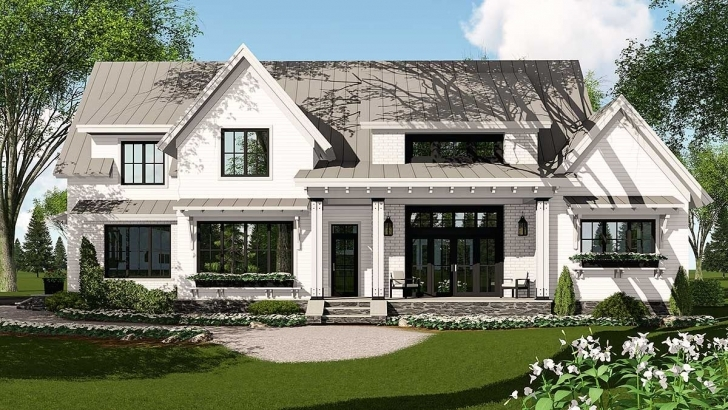 Image of Plan 14662Rk: Modern Farmhouse Plan Rich With Features Modern Farmhouse Plans Pic