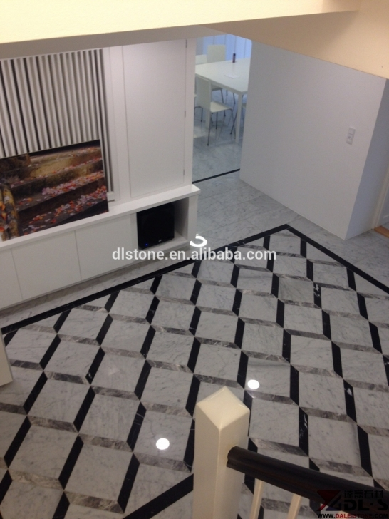Image of Silver Mink Nero Margiua 3D Granite Marble Floor Thin Tile Flooring Floor Marble With 3D Photo